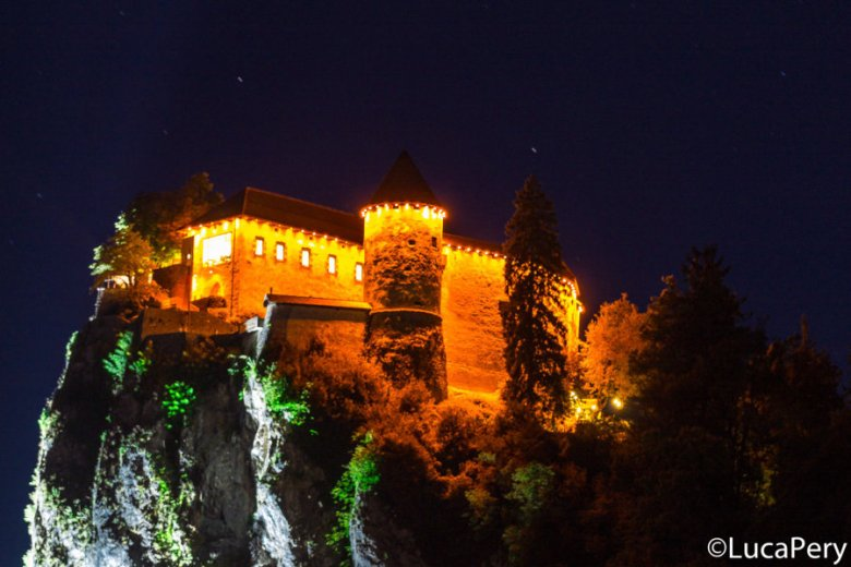 Castello di Bled by night